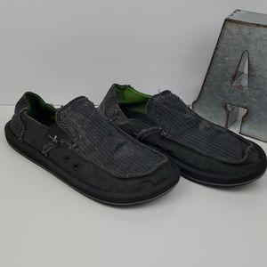 Sanuk Vagabond Slip On Loafer Surfer Shoe Soft Top